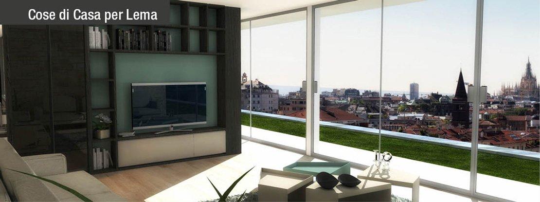 Dividere soggiorno e cucina senza pareti un progetto in for Progetto 3d cucina