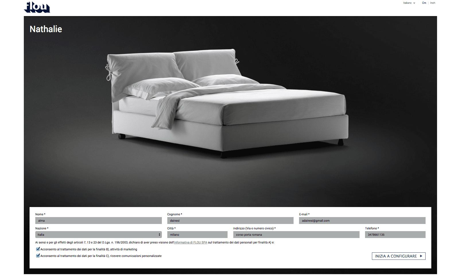 Flou tadao prezzo cheap letto olivier flou with letto - Letto notturno flou prezzo ...