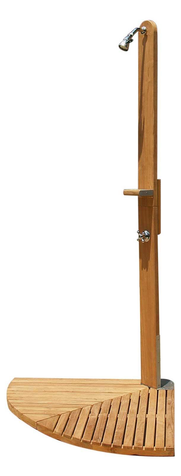 Doccia legno esterno idee creative di interni e mobili - Mobili in legno da esterno ...