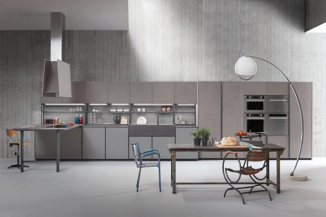Cucina senza maniglie si apre con le gole cose di casa - Cucine senza elettrodomestici ...