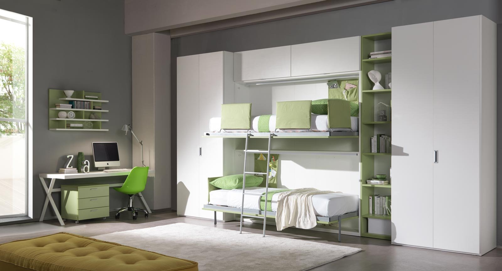Come Arredare Una Cameretta Rettangolare scegliere la cameretta: 14 soluzioni per tutti gli spazi