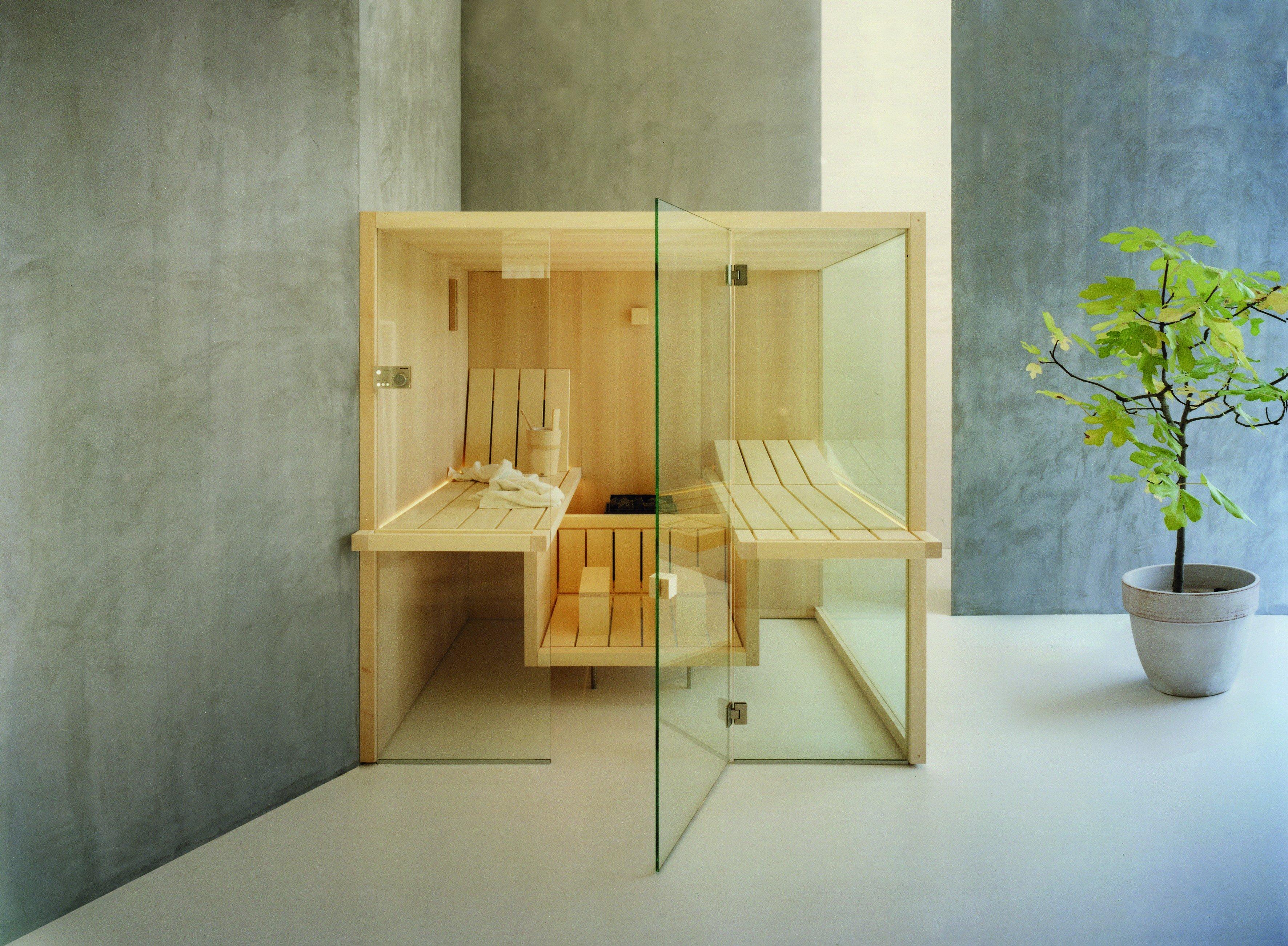 Top amazing panche e pedana sono sospese da terra nella sauna air progettata da talocci design - Prezzi sauna per casa ...