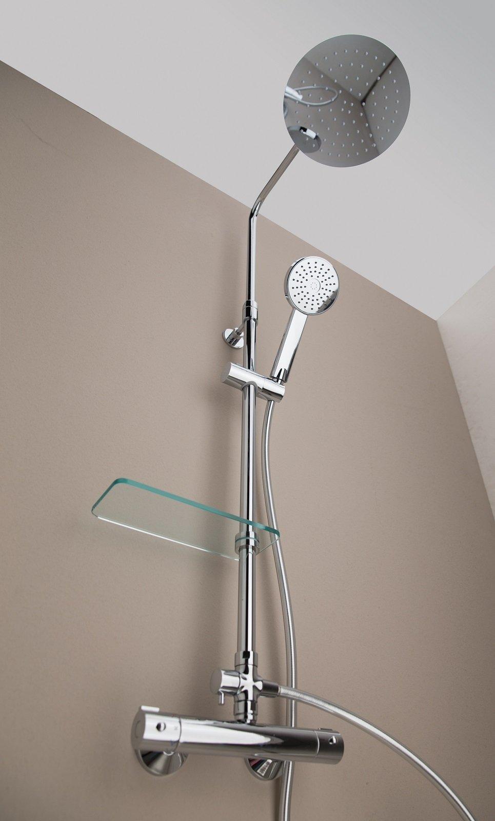 Doccia soffione e doccetta con asta saliscendi cose di casa for Altezza miscelatore doccia
