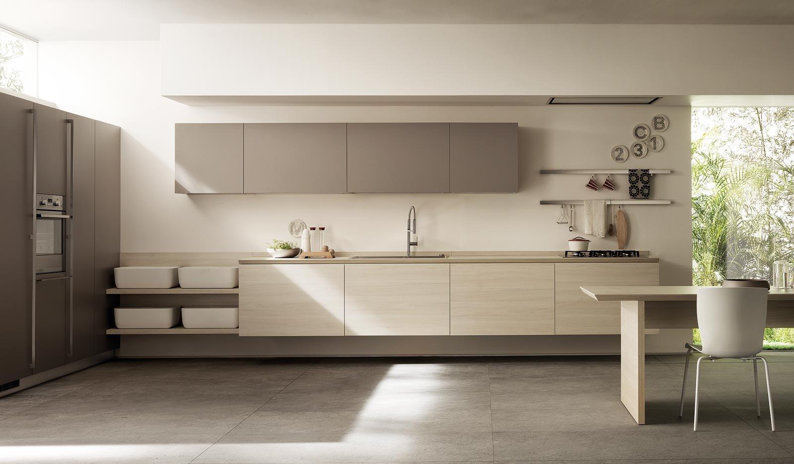 Cucina senza maniglie si apre con le gole cose di casa - Maniglie cucina scavolini ...