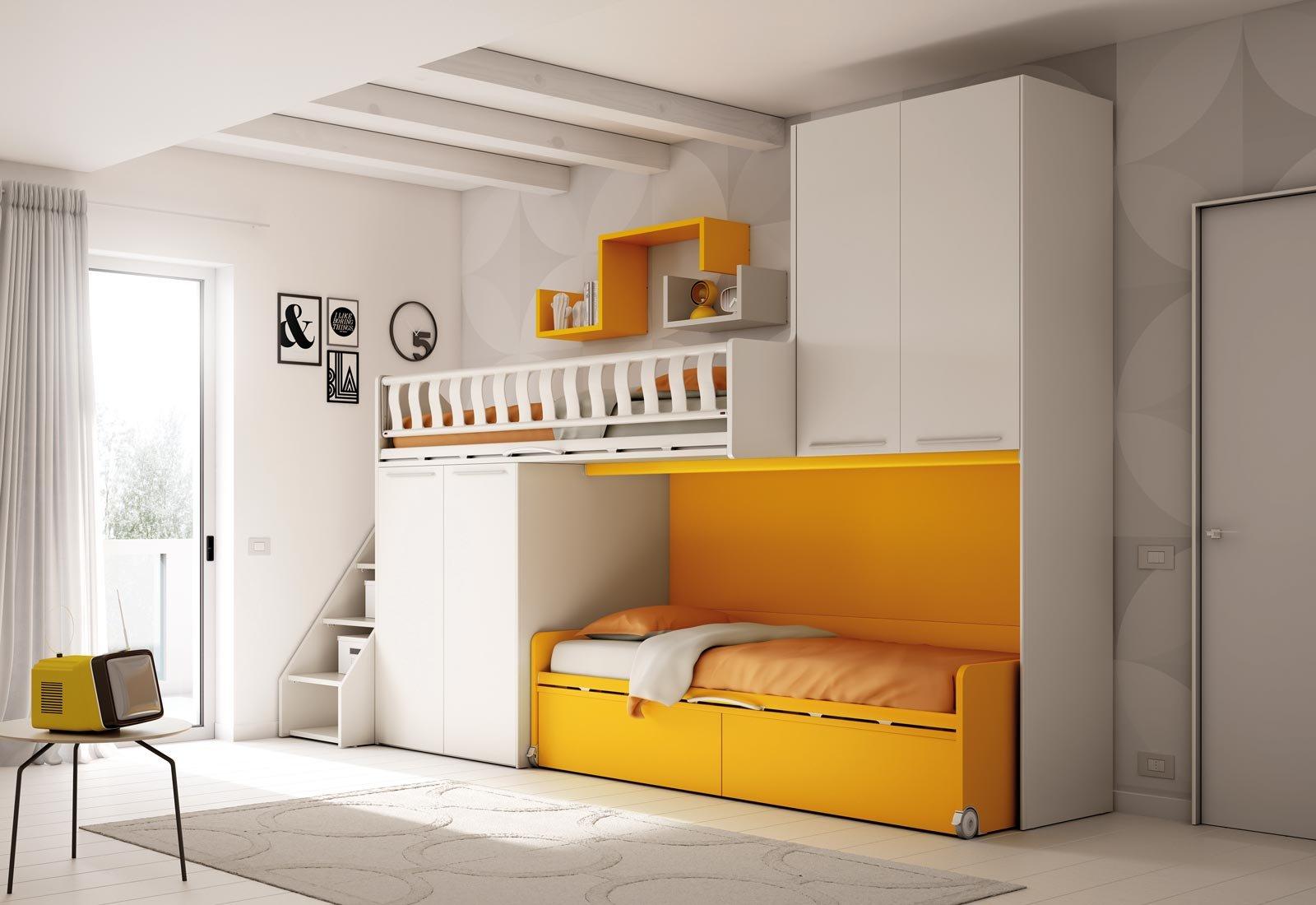 Scegliere la cameretta 14 soluzioni per tutti gli spazi cose di casa - Letto moretti compact ...