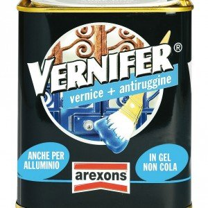 Vernifer di Arexons, vernice più antiruggine in gel, è adatta per ferro e alluminio, per uso in interni ed esterni. In 41 tinte e 4 finiture, da 750 ml costa euro 18,69 euro.