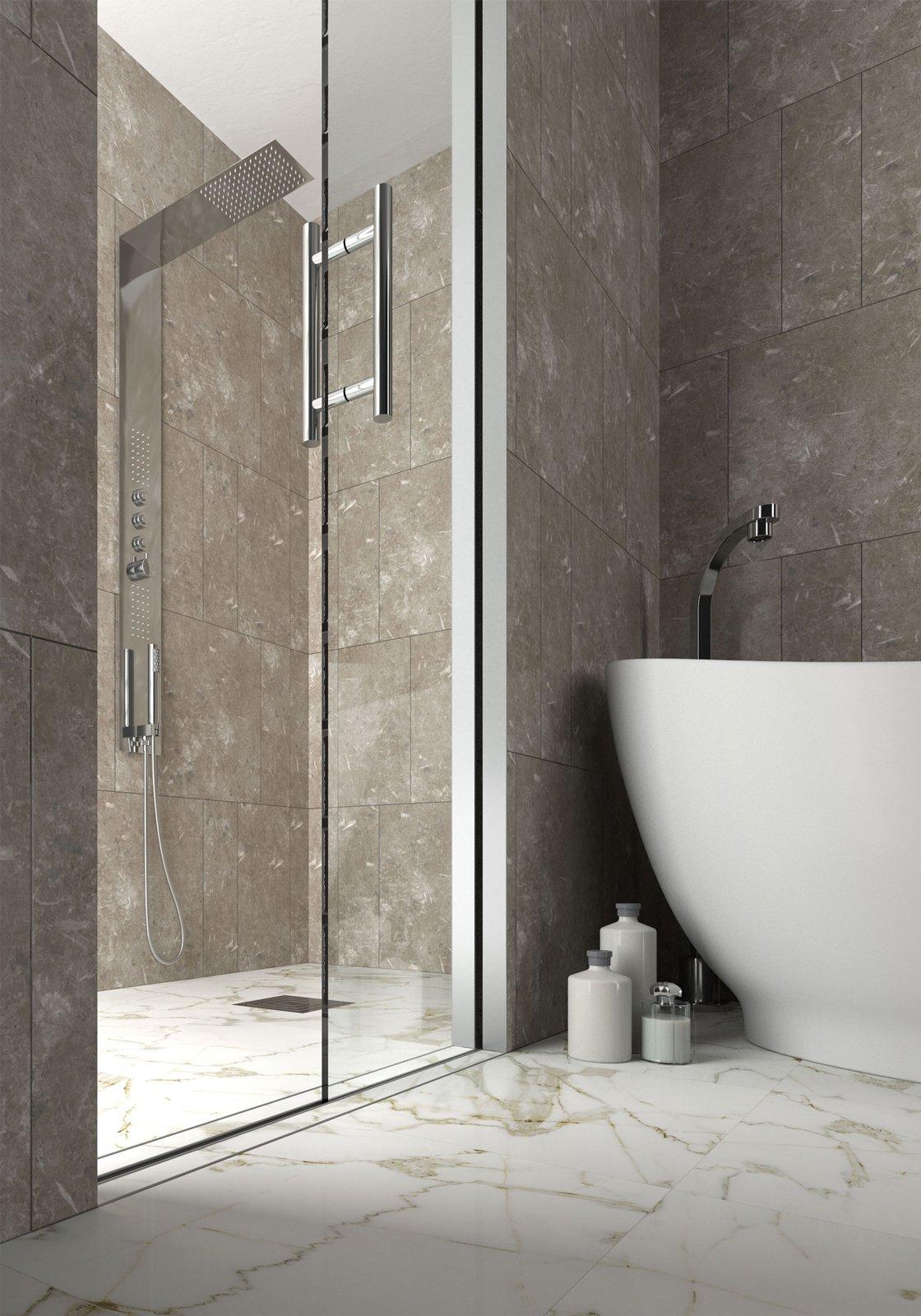 Porta scrigno per doccia funzionale salvaspazio e di - Porte per bagno ...