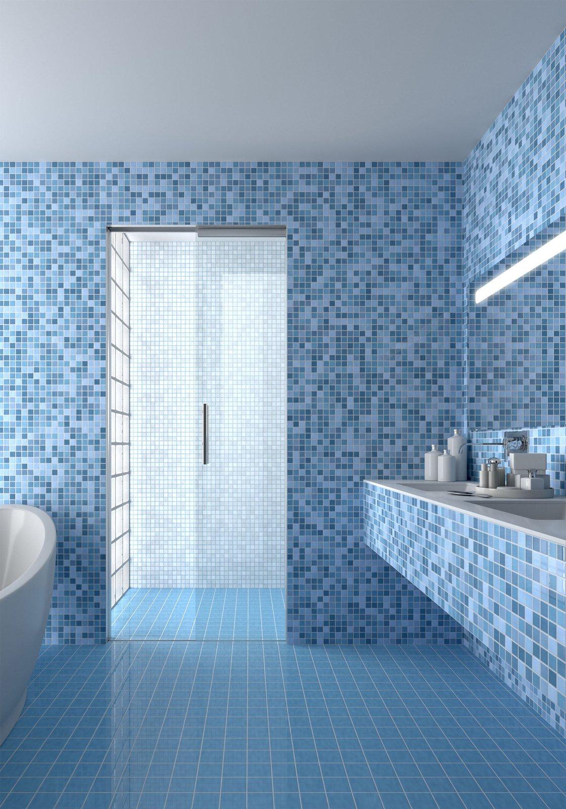 Porta scrigno per doccia funzionale salvaspazio e di - Porte per bagni ...