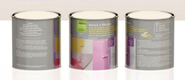 Facile e Veloce di Gapi Paints è lo smalto all'acqua satinato adatto anche per legno e laminato. Disponibile in 120 tinte.