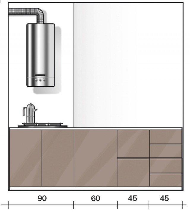 52 mq una casa che sembra pi grande cose di casa - Foro nel muro della cucina per normativa gas ...
