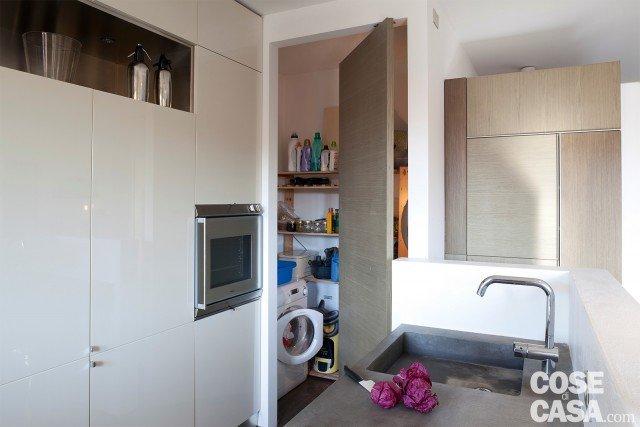 Una casa di 65 mq con volumi funzionali e originali quinte - Creare in cucina d ...