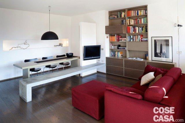 Una casa di 65 mq con volumi funzionali e originali quinte per dividere cose di casa - Arredare casa 65 mq ...