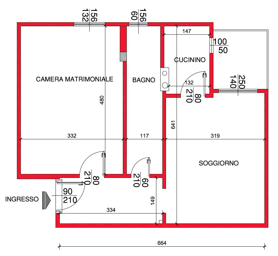 Mini casa 47 mq ben sfruttati cose di casa for Casa moderna di 50 mq