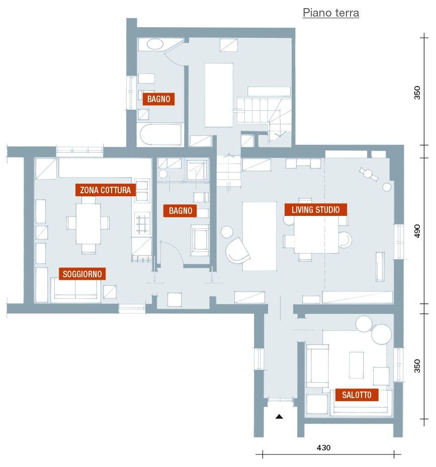 Mix di stili una casa arredata a schema libero cose di casa for Creare una pianta con dimensioni