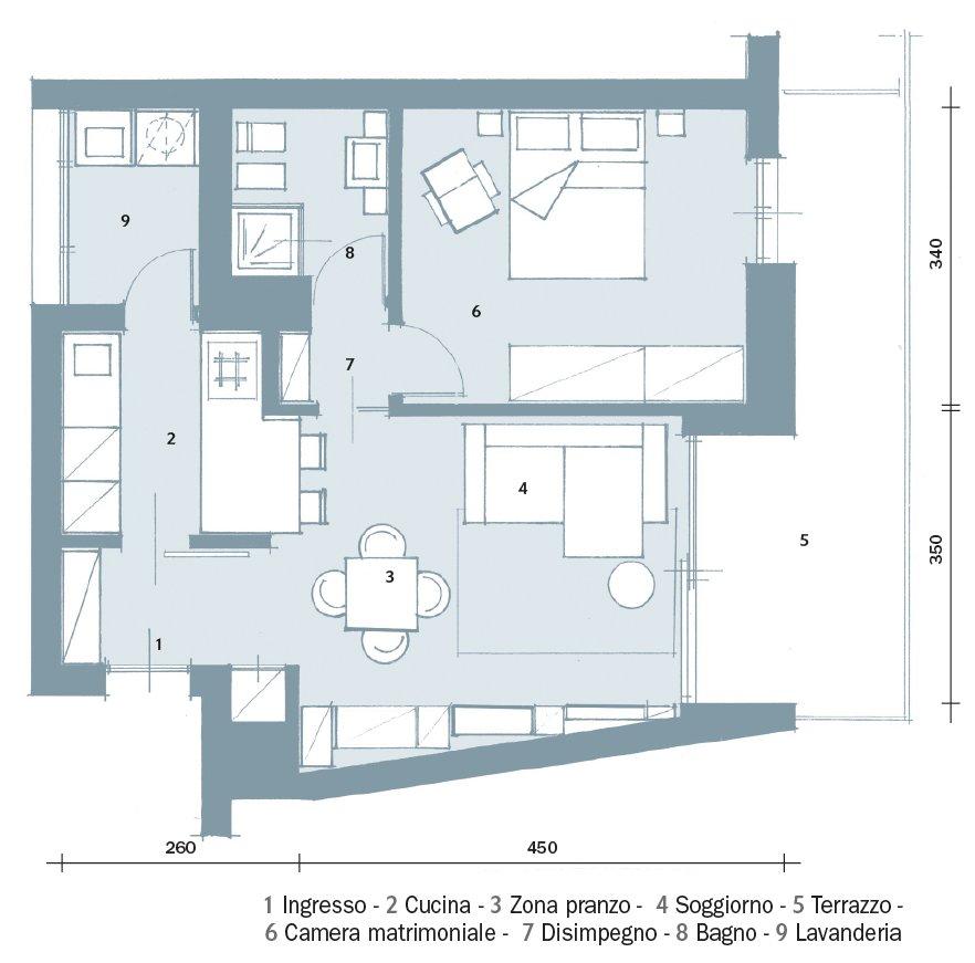 52 mq una casa che sembra pi grande cose di casa for Planimetrie della coperta