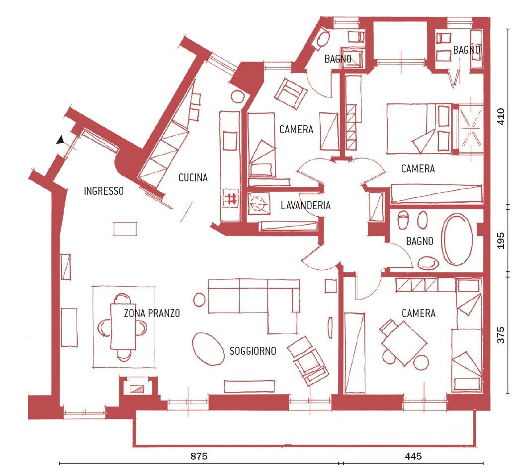 Distribuzione Spazi Interni Casa.Una Casa Con Zona Giorno Ampliata E Un Bagno In Piu Cose Di Casa