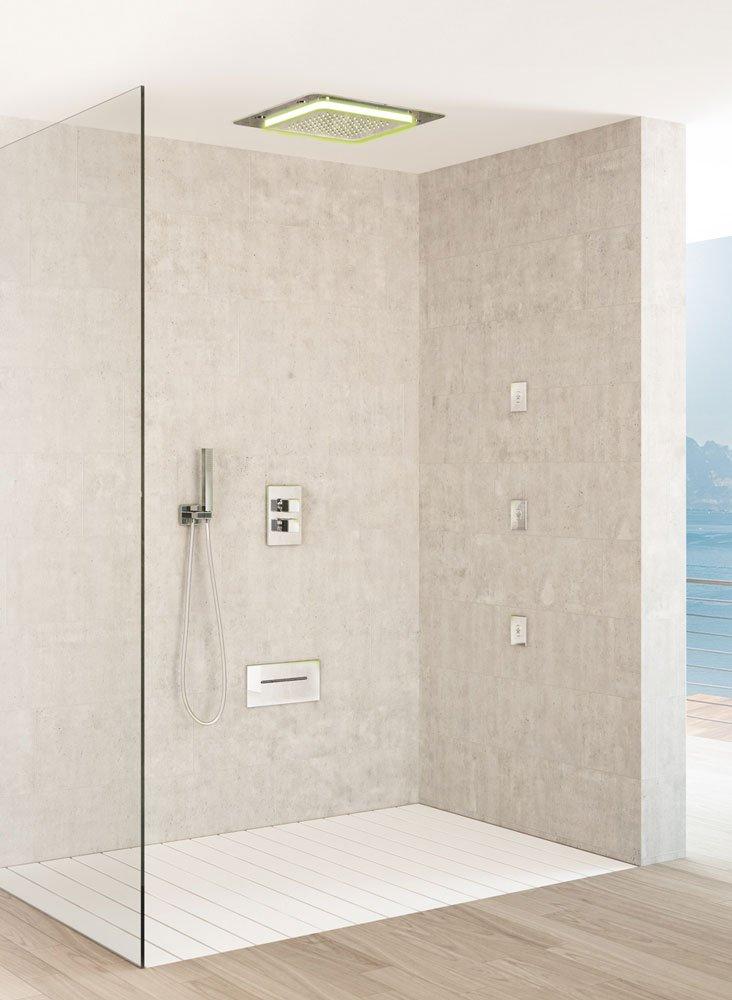 Docce rigeneranti per i bagni di casa cose di casa - Soffione doccia soffitto ...
