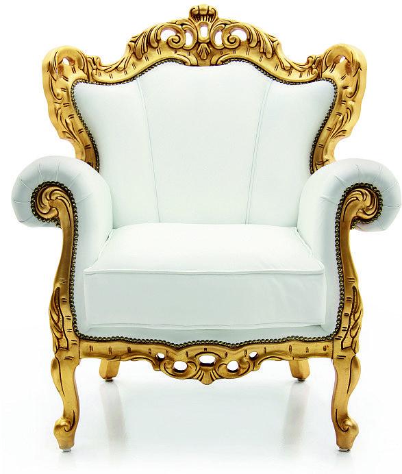 La poltrona in stile barocco perfetta in ambienti moderni for Poltrone minimal