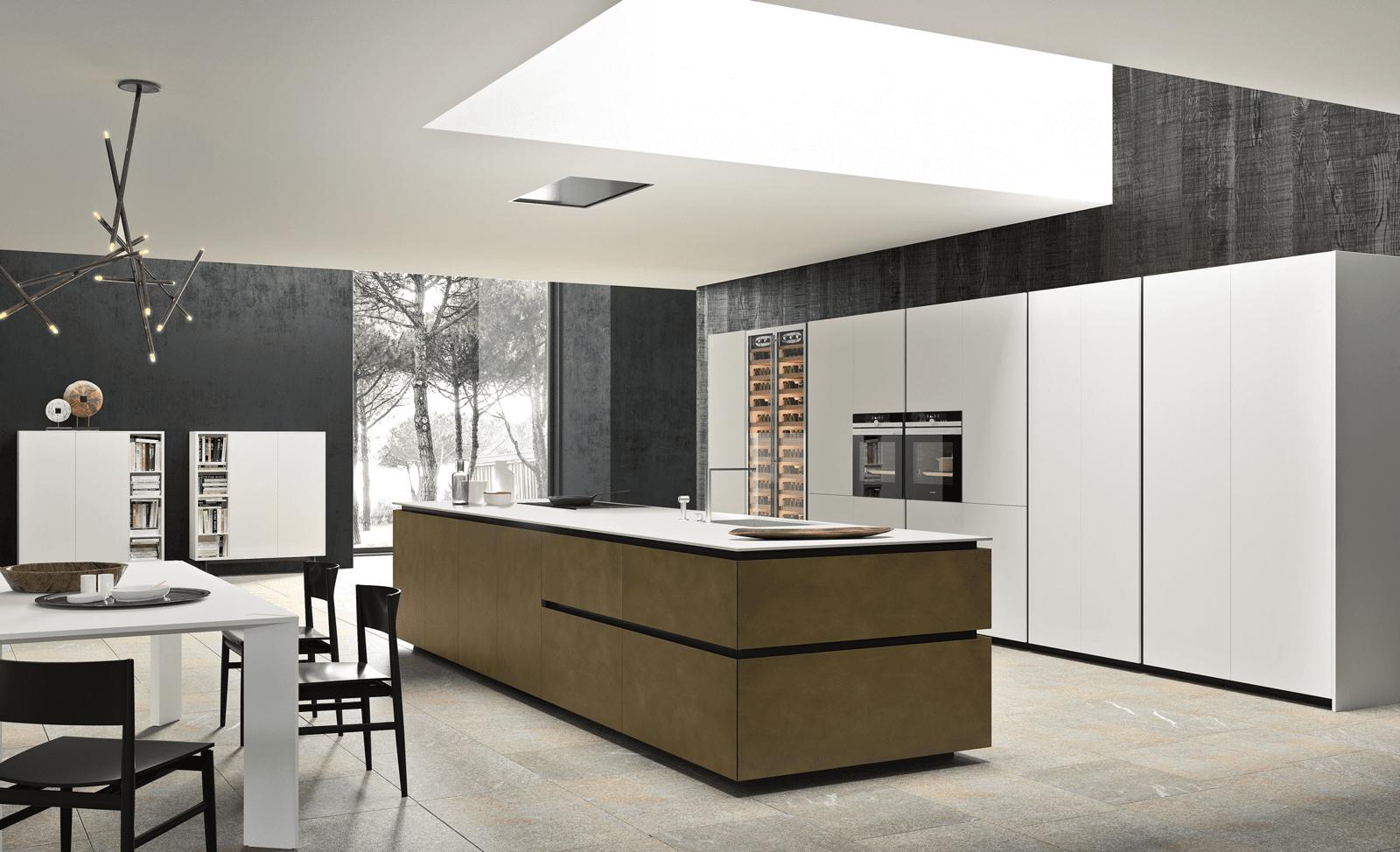 Cucina con l 39 isola il modello ideale a vista sul for Cucina a concetto aperta con isola