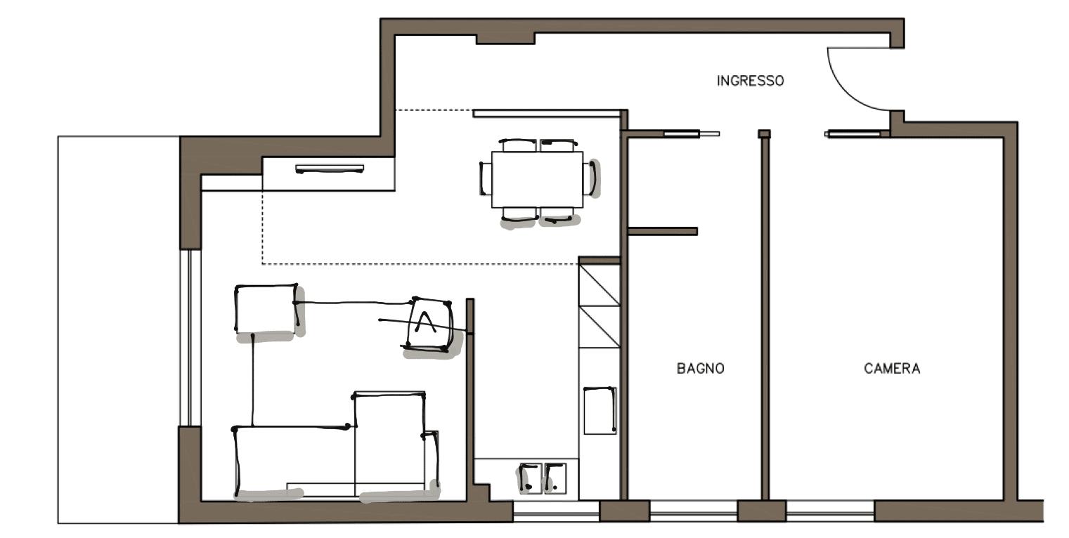 Cucina a vista o separata progetto in 3d cose di casa for Foto di case a pianta aperta