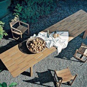 Tavolo allungabile in legno Brick di Roda (www.rodaonline.com)