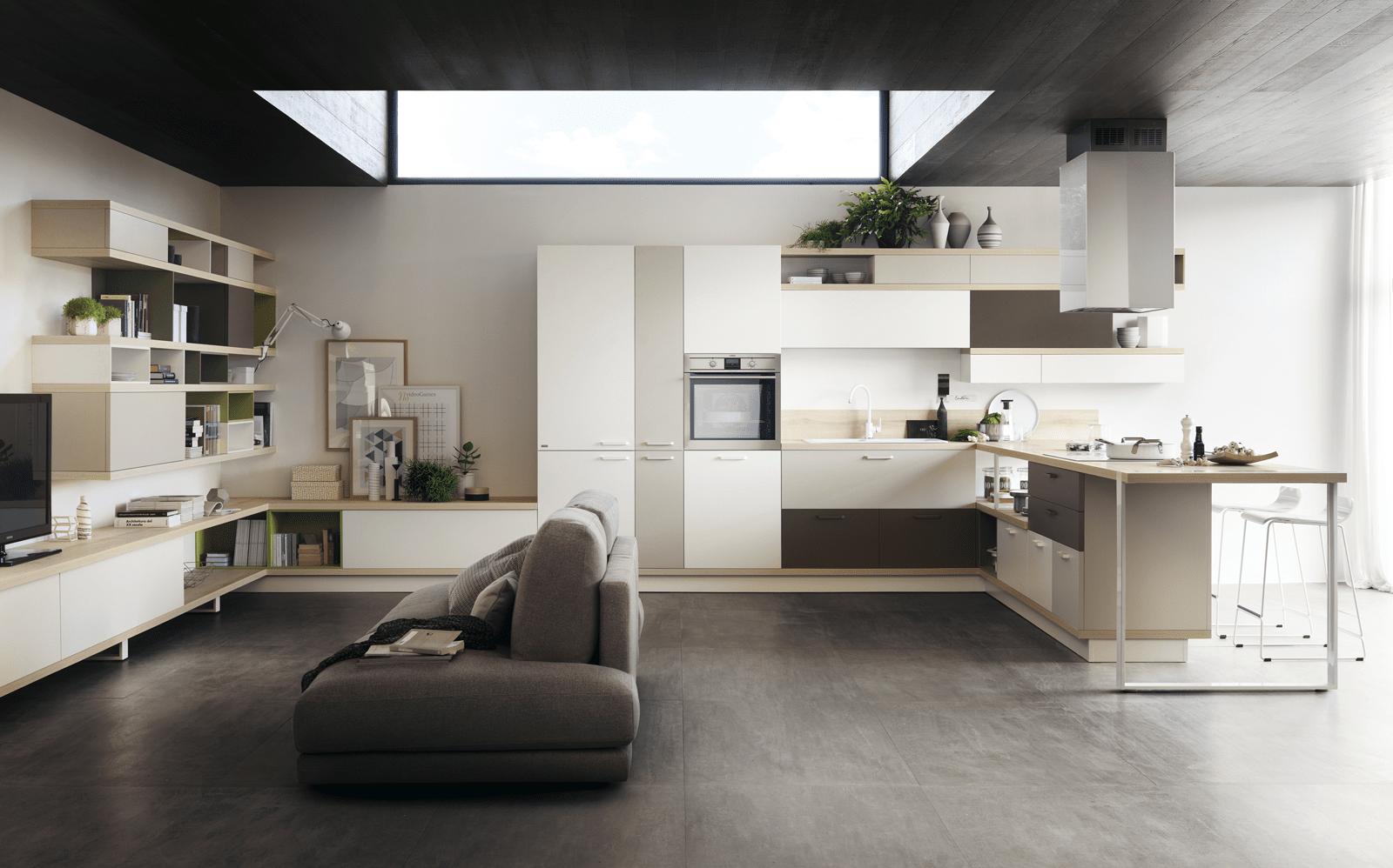 Penisola per la cucina non solo per dividere in zone - Cucine moderne total white ...