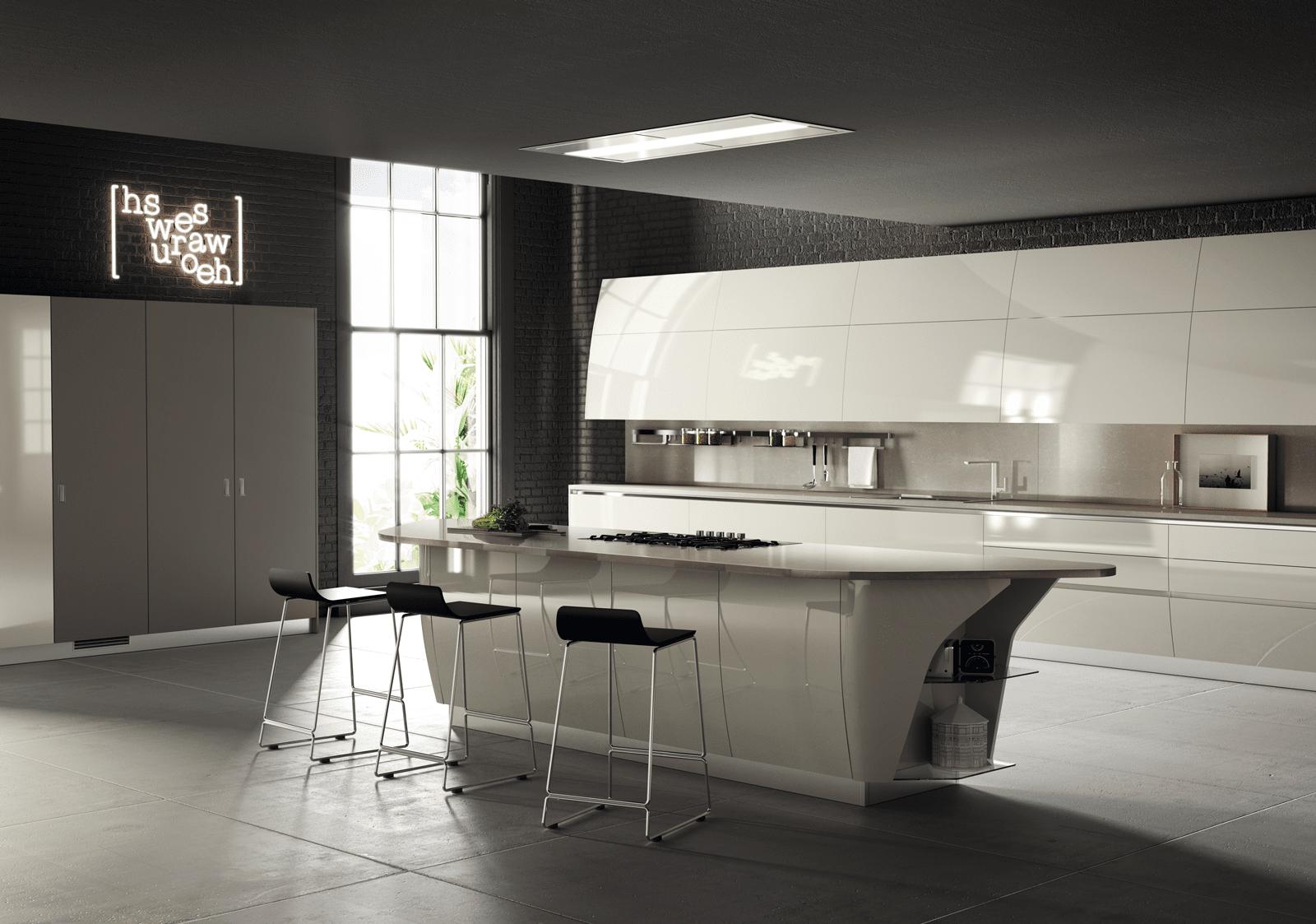 Cucina con l 39 isola il modello ideale a vista sul for Cucina 2016