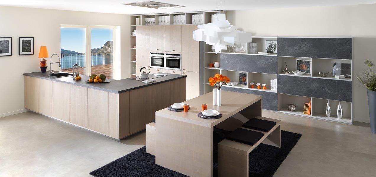 emejing cucine moderne in legno naturale pictures - home ideas ... - Cucine Moderne A Legna