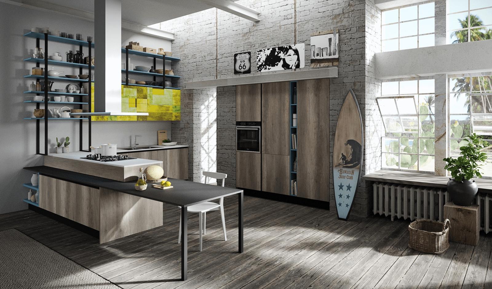 Penisola per la cucina non solo per dividere in zone cose di casa - Cucina aran mia ...