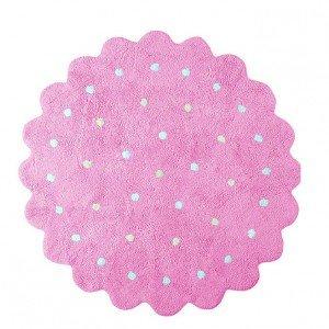 Si lava in lavatrice il tappeto Galletita Rosa di Lorena Canals con diametro 140 cm. È fatto a mano ed è  disponibile in più tinte. € 152