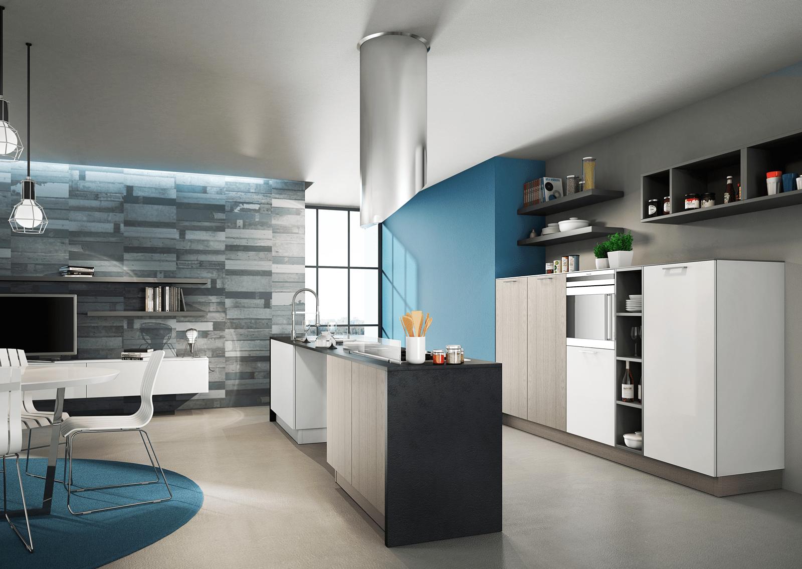 Cucina con l 39 isola il modello ideale a vista sul for Modelli di cucine con isola
