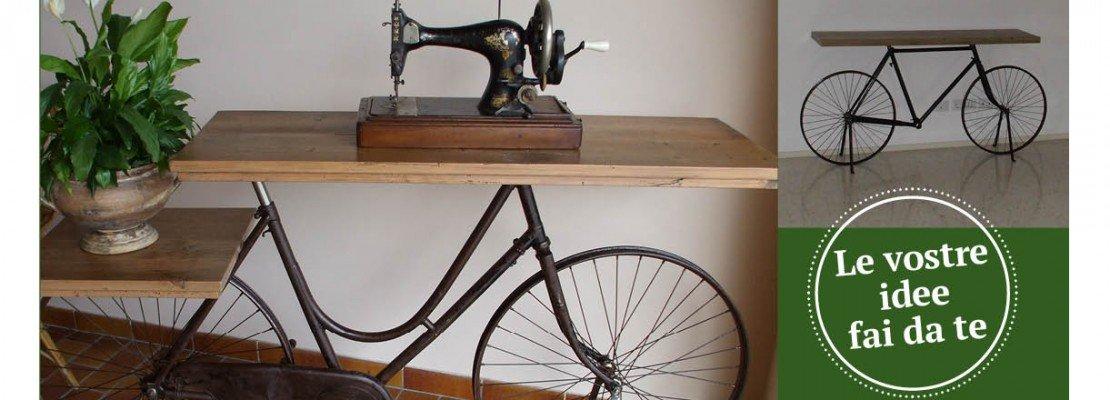 Riciclo effetto sorpresa: la bici diventa tavolino - Cose di Casa