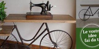 Riciclo effetto sorpresa: la bici diventa tavolino