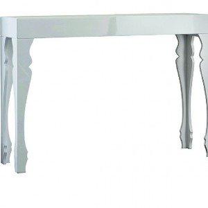 In mdf con finitura laccata, la console Art. 57534 di Brandani è caratterizzata dalle gambe sagomate. Misura L 110 x P 27 x H 75 cm.  € 199*