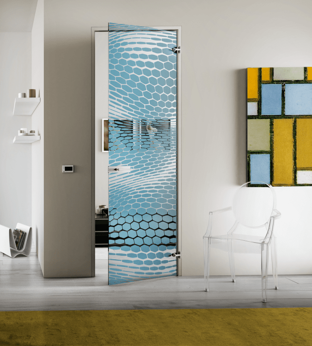 porta in vetro Hexagone di Casali