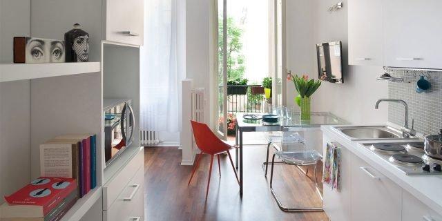 Progetti case 50mq piccole idee arredamento piantine for Arredare mini appartamento ikea