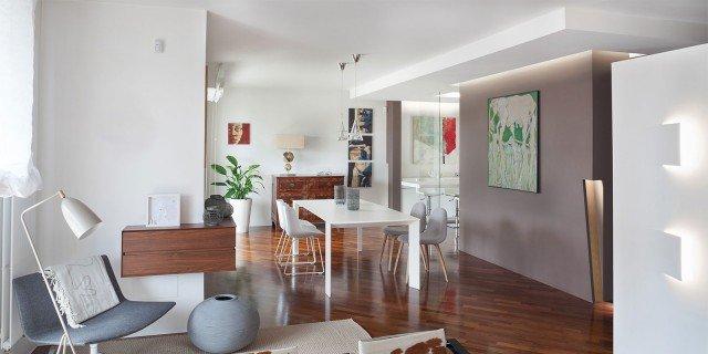 Equilibrio di contrasti nel bilocale di 80 mq cose di casa for Arredamento bilocale moderno