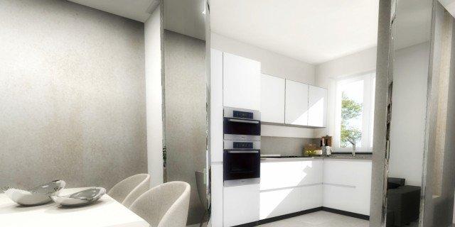 Cucina a vista o separata? Progetto in 3D