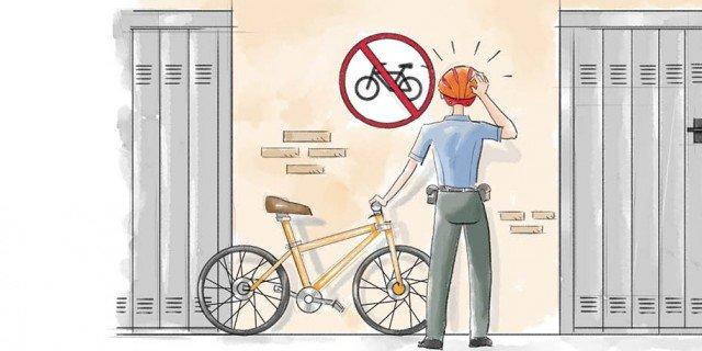 Biciclettanel cortile condominiale