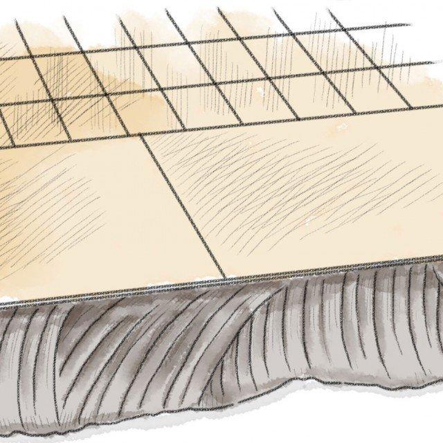 3- Sul massetto si spalma l'adesivo per esterni con l'apposita spatola dentata e si fa aderire la piastrella facendo attenzione alla larghezza delle fughe, che deve essere uguale a quella delle mattonelle esistenti, e all'altezza della piastrella, che deve essere pari a quelle adiacenti per evitare la formazione di gradini.