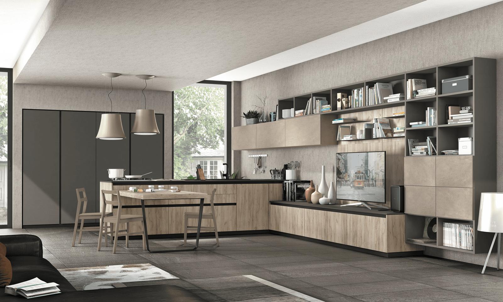 Penisola per la cucina non solo per dividere in zone for Arredamento moderno casa