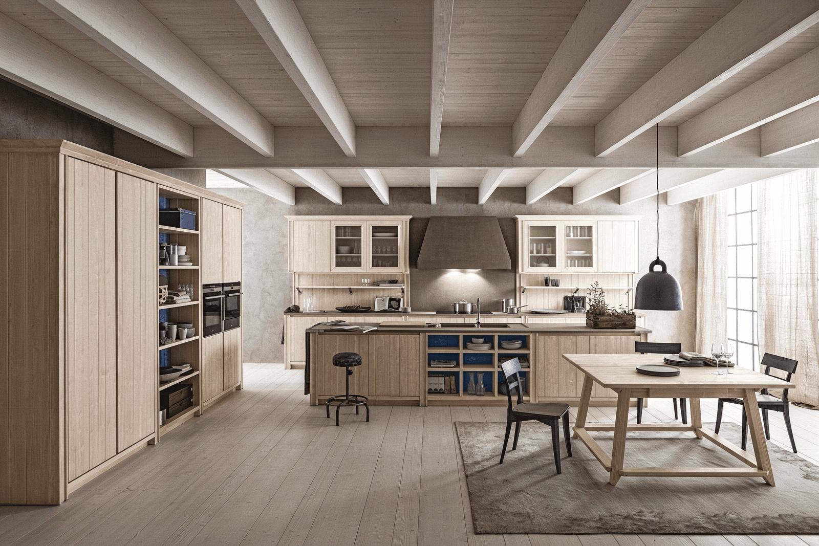 Cucina con l 39 isola il modello ideale a vista sul for Piani e progetti di case contemporanee