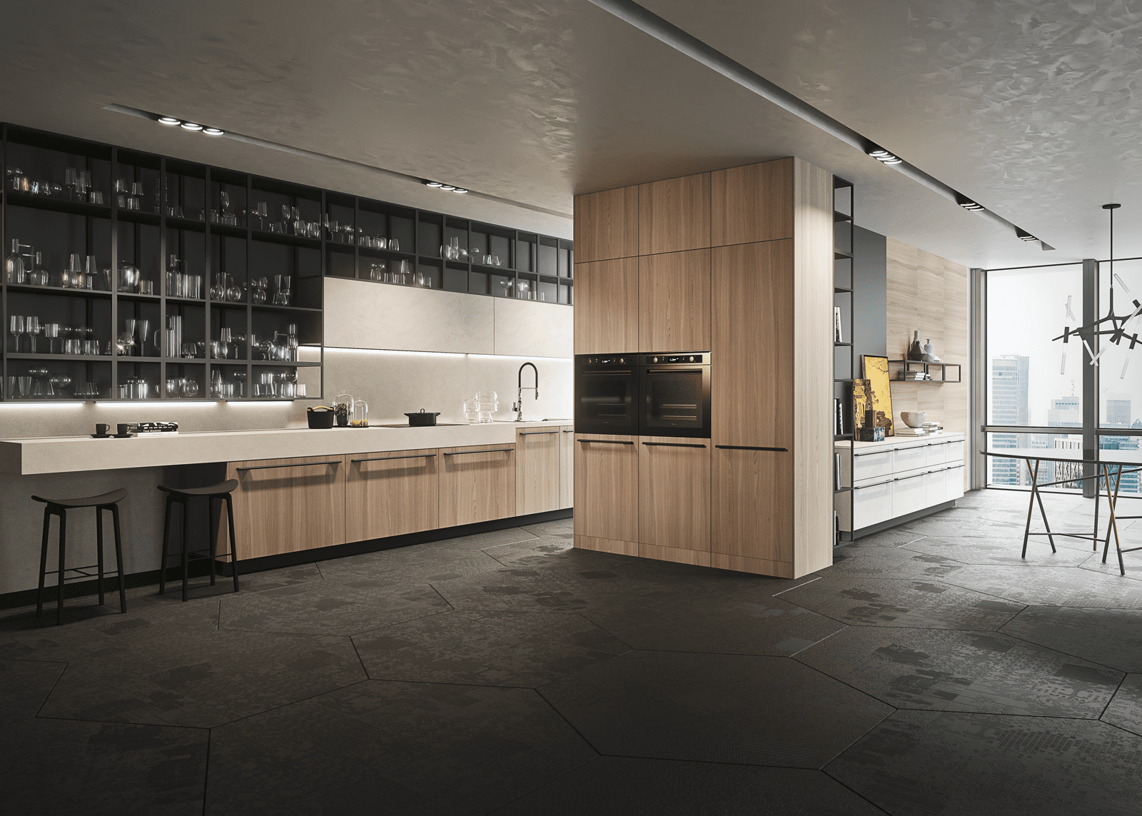 Boiserie attrezzate per le cucine cose di casa for Snaidero cucine