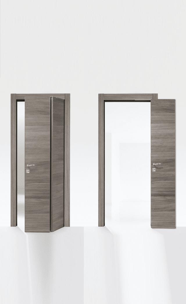 Tesla linea Desa di Style House è la soluzione Compack in frassino grigio. Realizzabile con una o due ante, ha maniglie differenziate sui lati. (www.shporte.it)