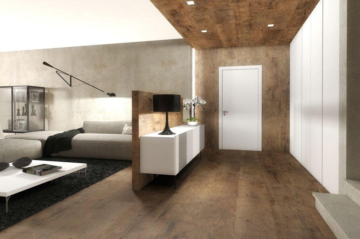 Ingresso aperto sul soggiorno due progetti d 39 arredo in 3d for Arredo ingresso design