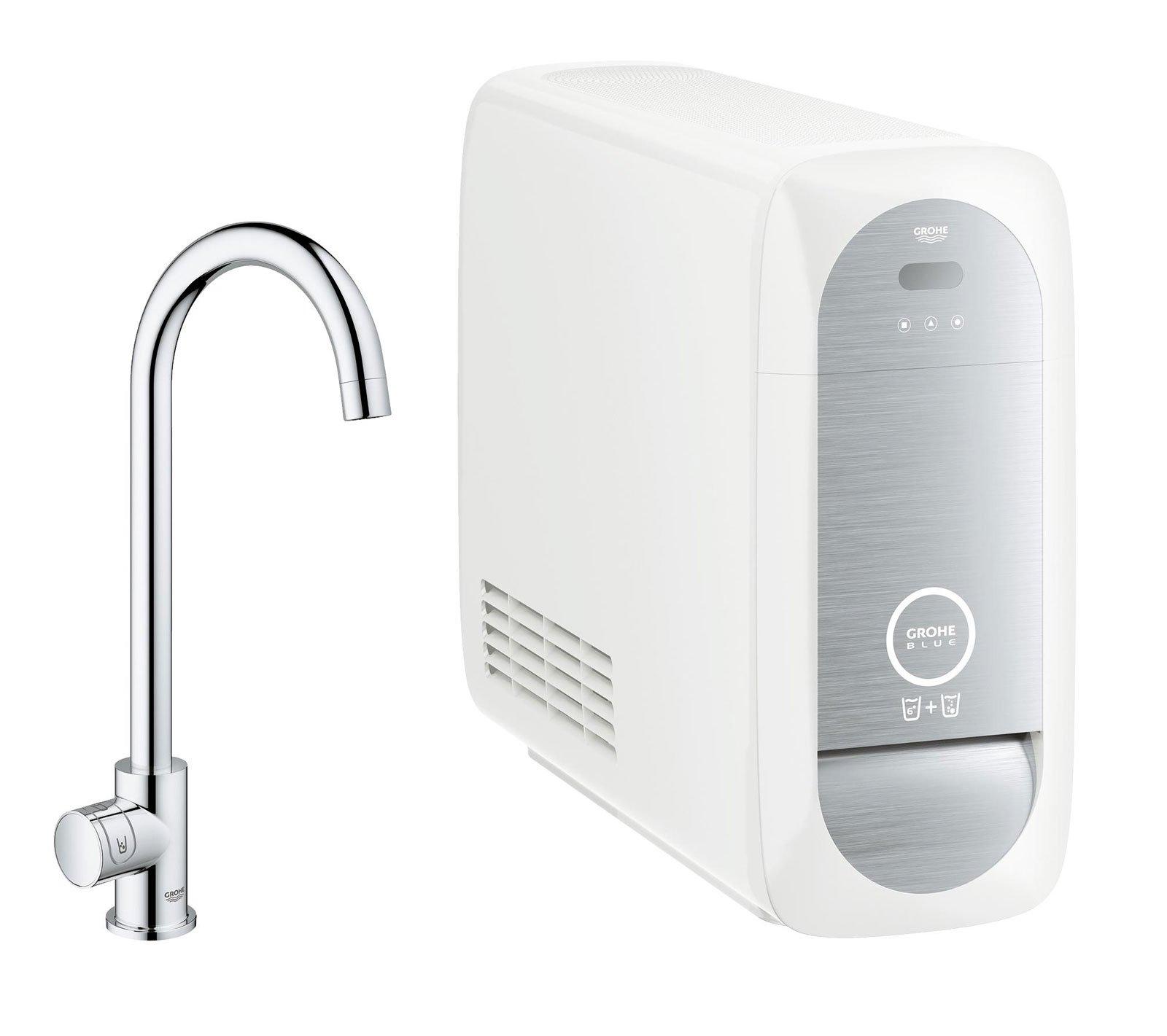grohe blue home dal rubinetto anche acqua filtrata frizzante cose di casa. Black Bedroom Furniture Sets. Home Design Ideas