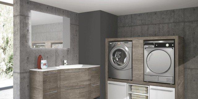 lavanderia in un mobile o in una stanza separata cose