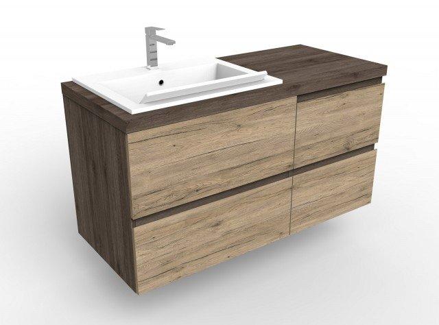 Con una semplice inclinazione del piano diventa un lavatoio, il lavabo/lavatoio di design Lugano di Alice Ceramica. È installabile da appoggio, a incasso o sottopiano. Completo di mobile lavabo costa 2928 euro. www.aliceceramica.com