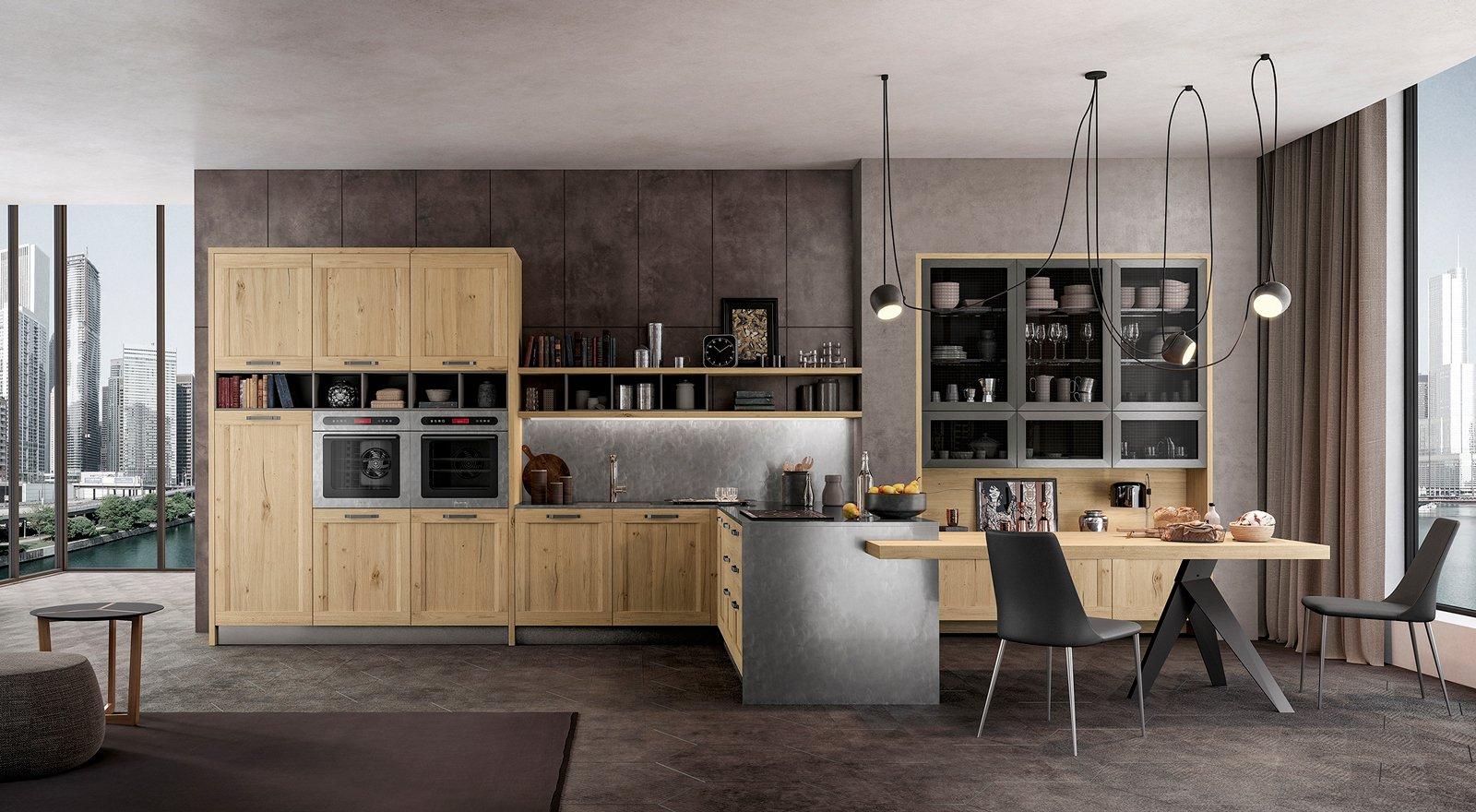 Cucina con vetrina soprattutto classica o in stile for Piani del giroletto in stile missione