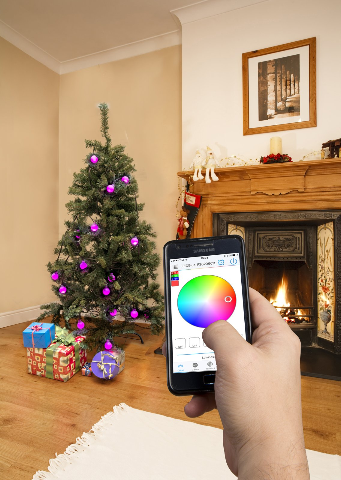 Dmail colorlight ghianda luci co app cose di casa for Dmail natale